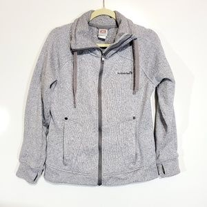 Avalanche Zip Up Sweater Thumb Holes Size Med.